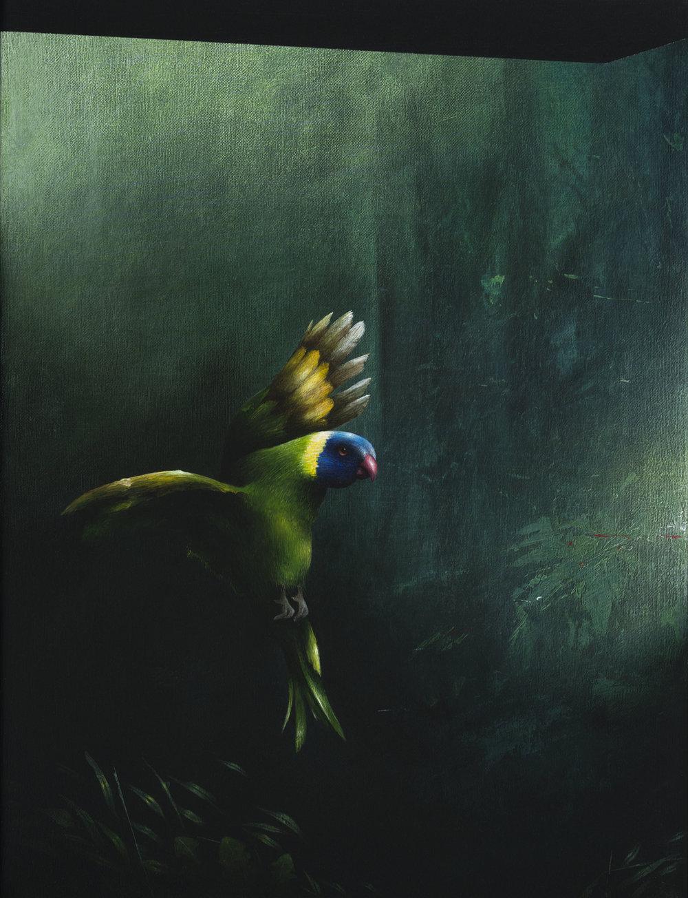 Jarek Wojcik, Presque Vu , 2016, Acrylic on linen, 41x31cm