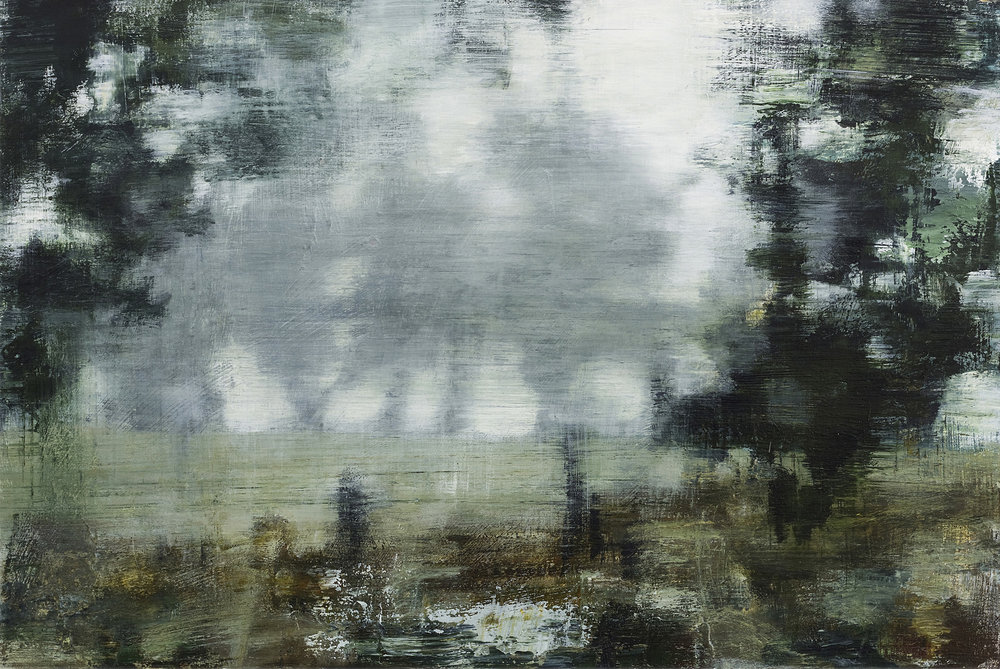 Joanna Logue,  Essington - View,  2015, acrylic on board, 40 x 60