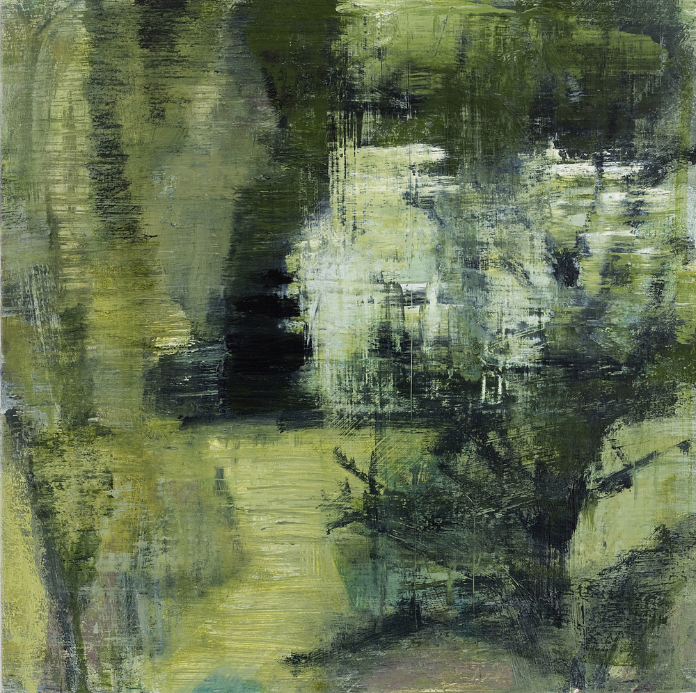 Joanna Logue,  Garden I , 2015, 40 x 40cm, acrylic on board