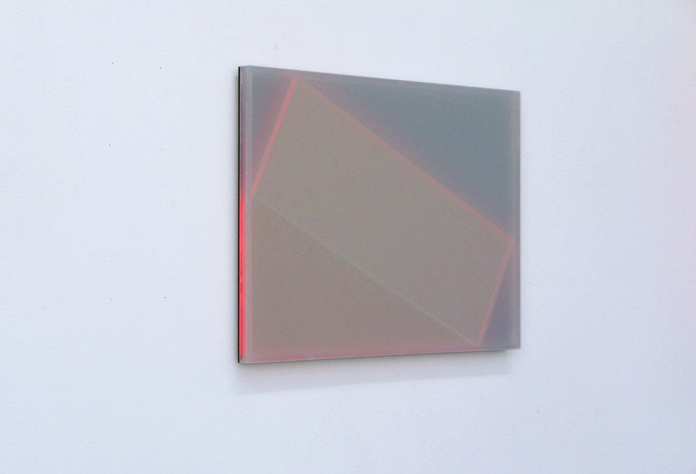 Karyn Taylor, Shift , 2015, perspex, 42 x 30 x 2cm