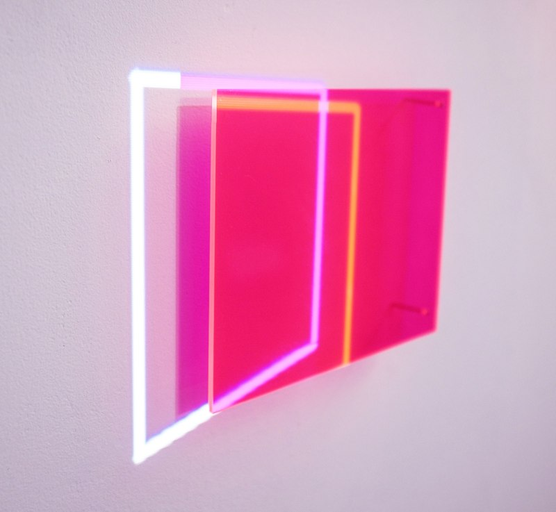 Karyn Taylor,  Test Work Series , 2014, perspex, plywood, matboard, graphite, gouache, projection