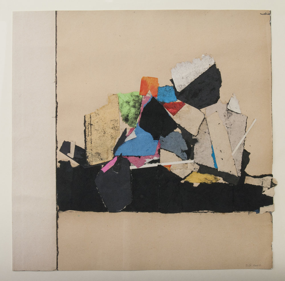 Sam Grigorian,  Untitled , 2007, mixed media, decollage, paper, 30.5 x 30.5cm