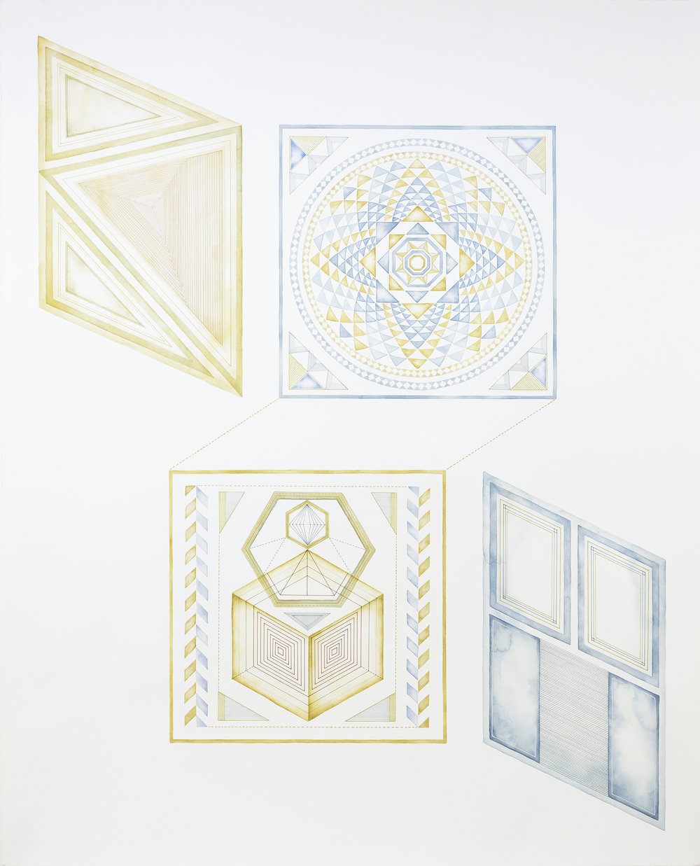 Yuria Okamura, Wander 1 , 2015, acrylic and ink on paper, 120 x 96 cm