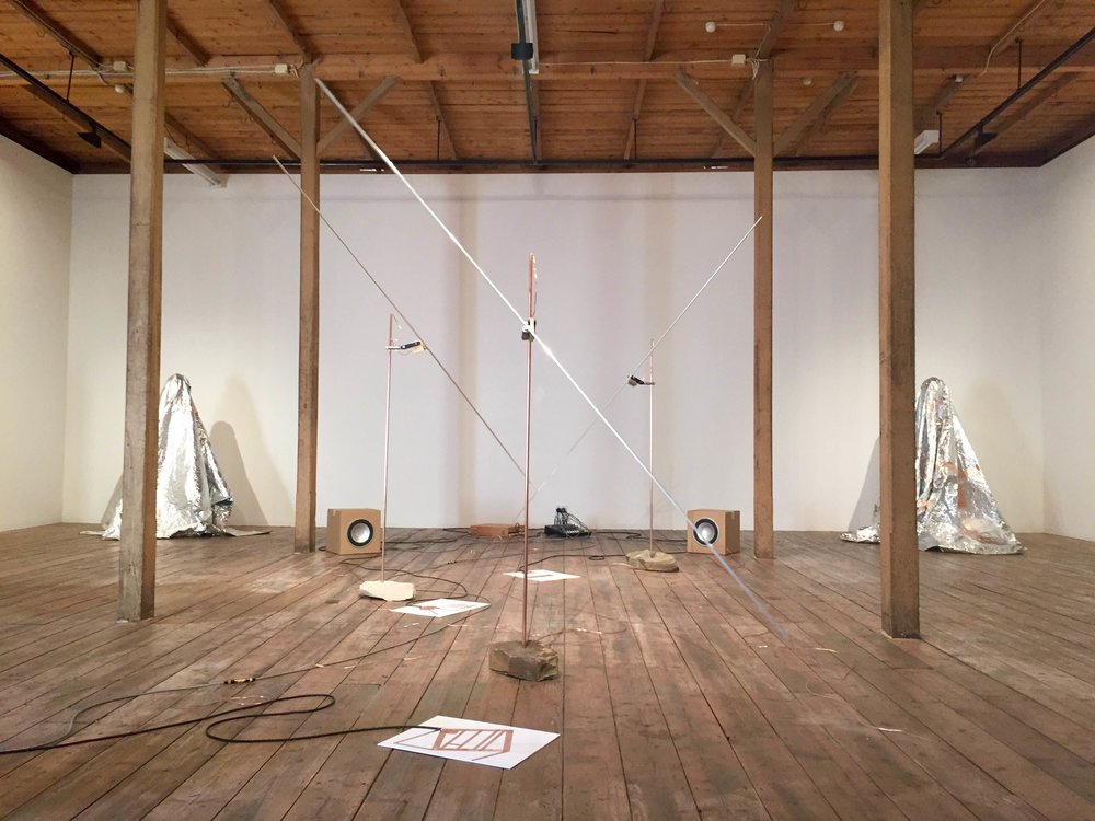 Michael Prior,  Slow Air , Mixed media (installation view