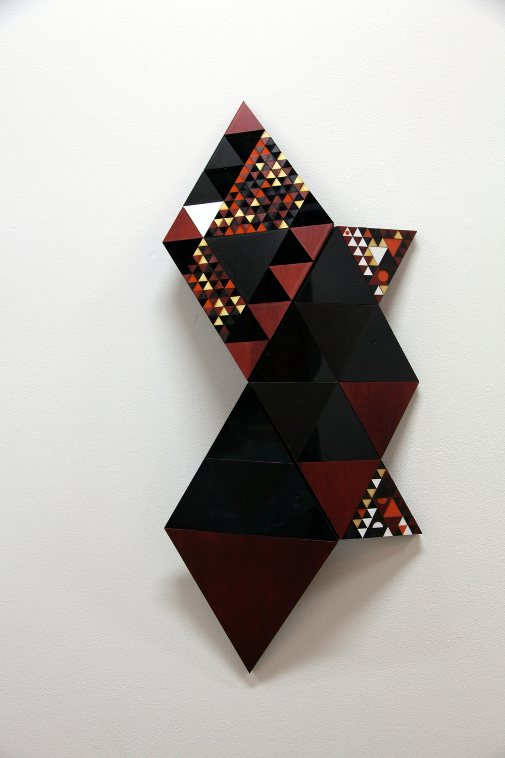 Troy Innocent,  Oekos,  2015, laser cut plywood and acrylic, 51 x 76cm