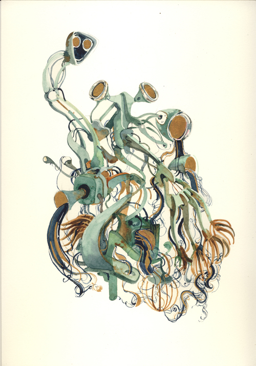Simon MacEwan,  If You Have Tears, Prepare To Shed Them Now,  2011, watercolour on paper, 30 x 21