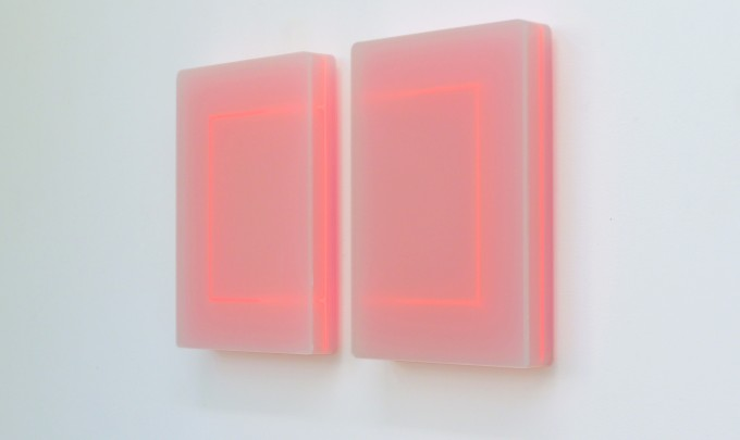 Karyn Taylor,  Time Loop In 2 Parts , 2015, Perspex, 70 x 42 x 6.5cm