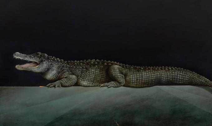 Jarek Wojcik,Ambient, 2015, acrylic on linen, 168 x 198 cm