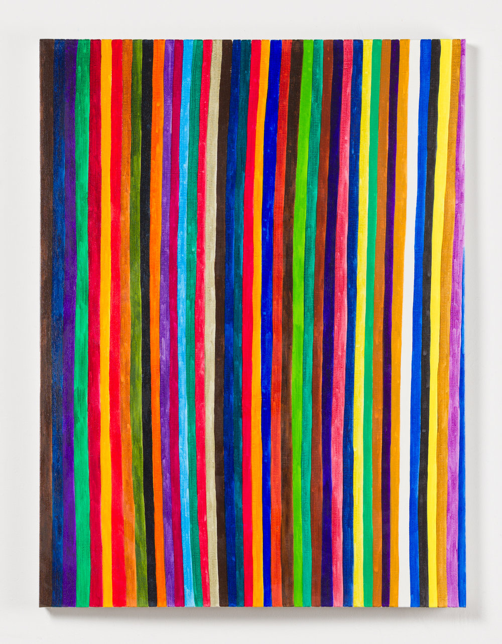Renee Cosgrave, Lines,  Transparent Colours (Small I) , 2016, oil on linen, 61 x 51cm