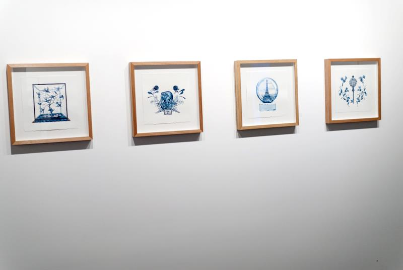 Simon MacEwan,  London 1851, Sydney 1879, Paris 1889, Melbourne 1889 , 2011, watercolour on paper, installation image