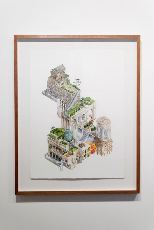Simon MacEwan,  L'Esprit Nouveau , 2011, watercolour on paper, 21 x 29.7cm