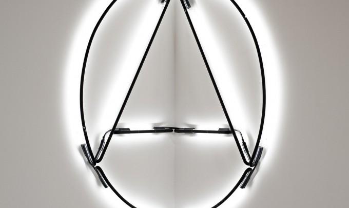 Brad Haylock, Anarchy Lite, 2011, neon tubing, 120 x 120cm