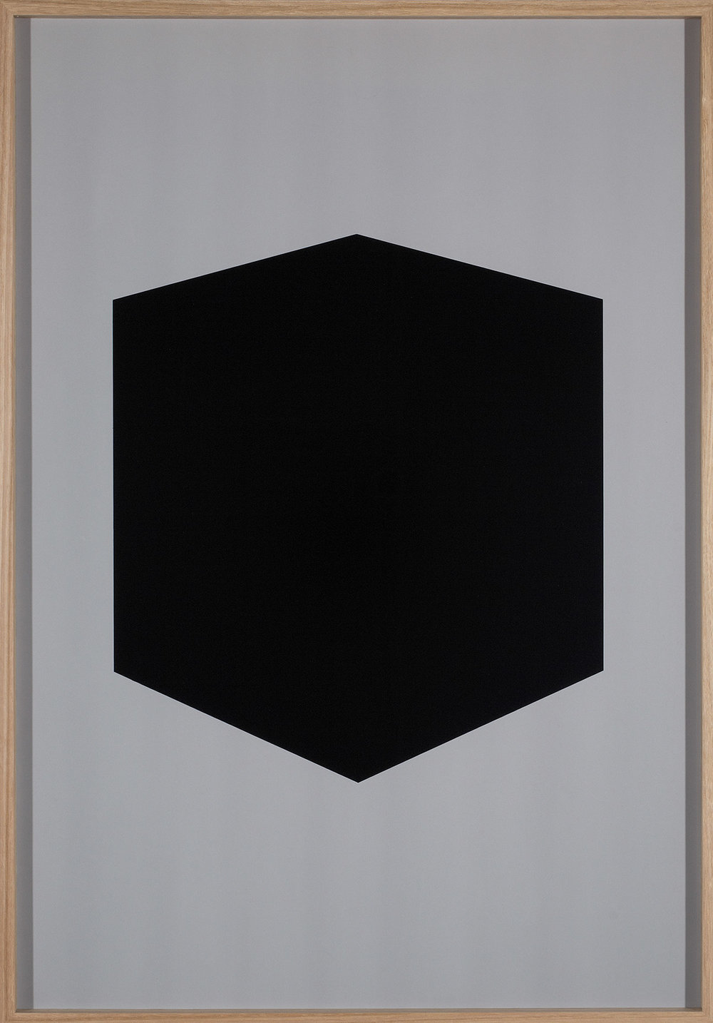 Brad Haylock,  After Zero (grey) , 2011, silkscreen print on paper, 100 x 70cm