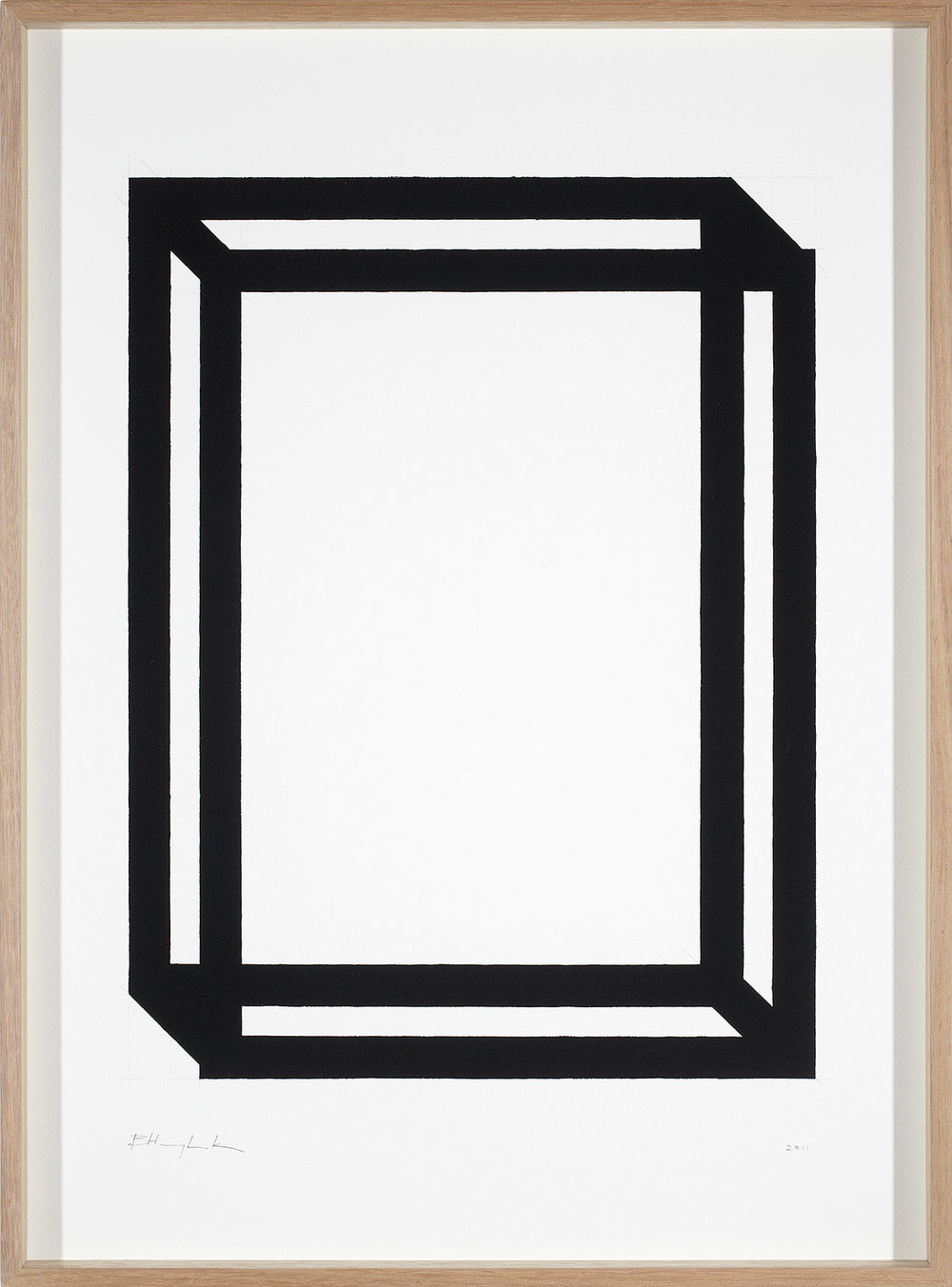 Brad Haylock,  Untitled Without Time , 2011, gouache and graphite on paper, splined Tasmanian oak frame, glass, 77 x 58cm