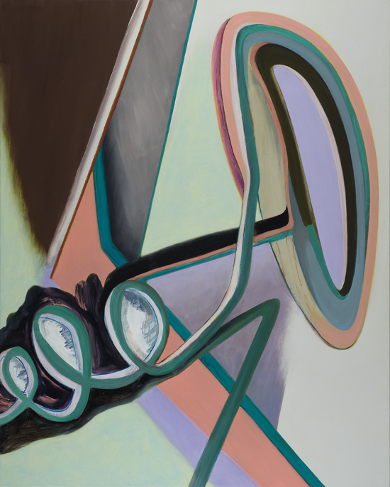 David Palliser,  Nerve Bangle , 2010, oil on canvas, 137 x 112cm