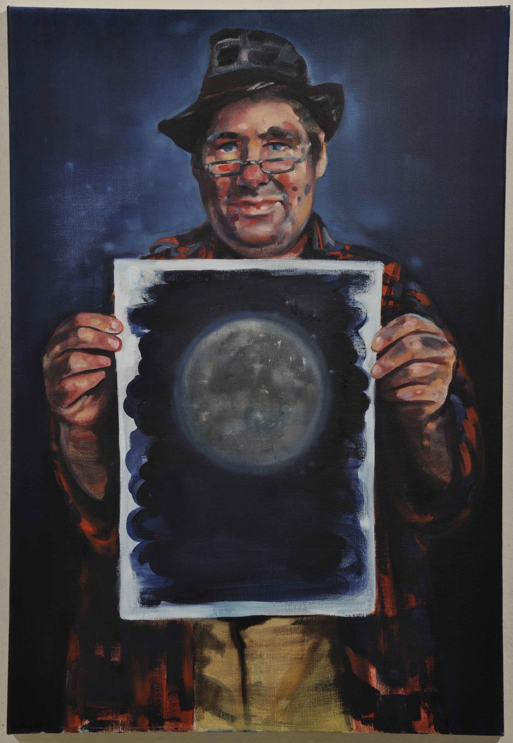 Christina Hayes,  Moonlit Clarke , 2011, oil on linen, 82 x 56cm