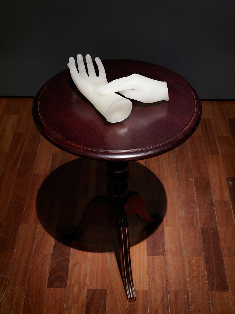 Julia Robinson,  Untitled , 2011, resin, table, 65 x 80x 20cm