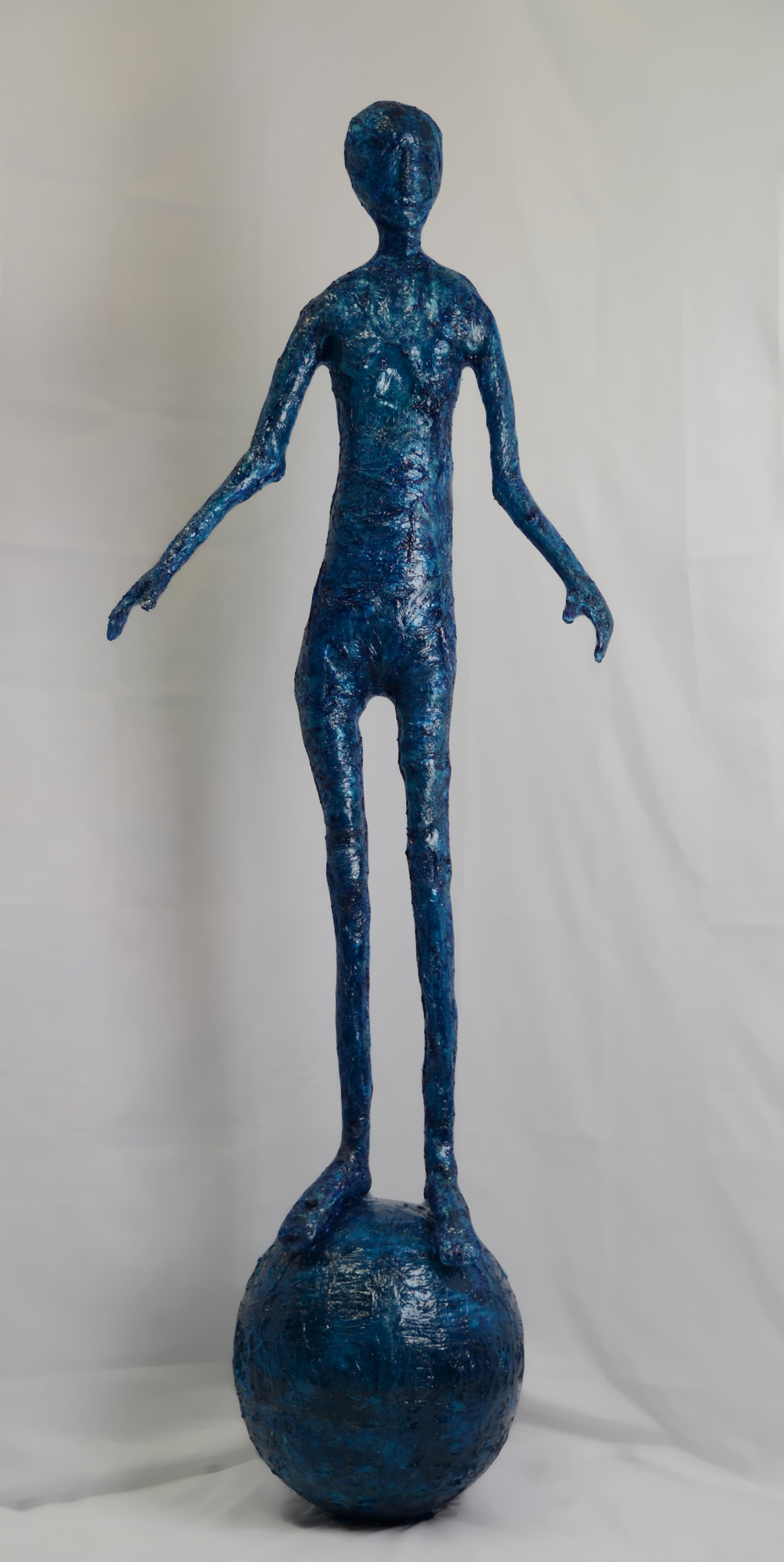 Elisabeth Weissensteiner,  Dark Blue Dancer , 2011, polyester resin, fibreglass and pigments, height 200cm