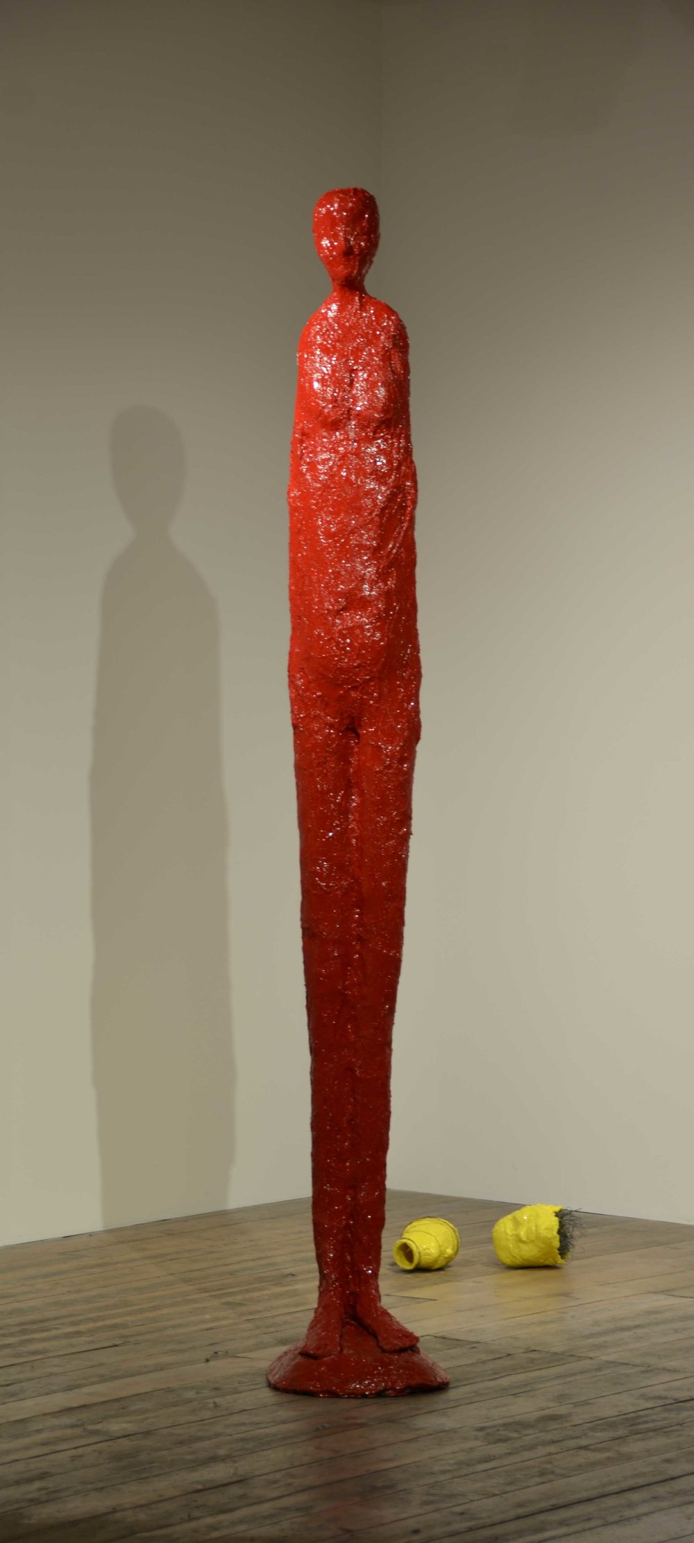 Elisabeth Weissensteiner,  Scarlet Dancer in the Eye of the Storm , 2011, polyester resin, fibreglass and pigments, height 250cm