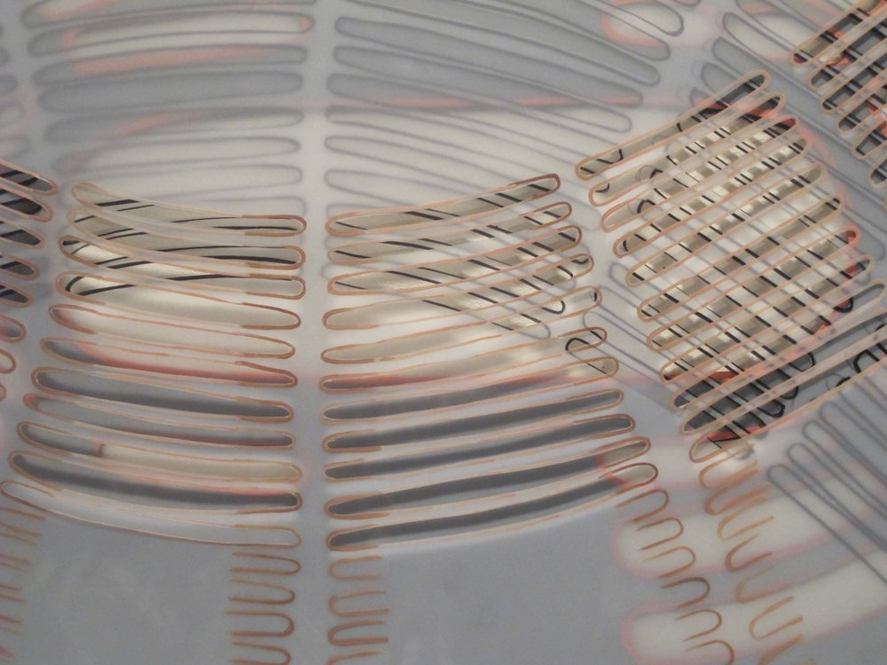Lisa Andrew,  un-form , 2011, graphite and gouache on polyester film 84 x 59cm