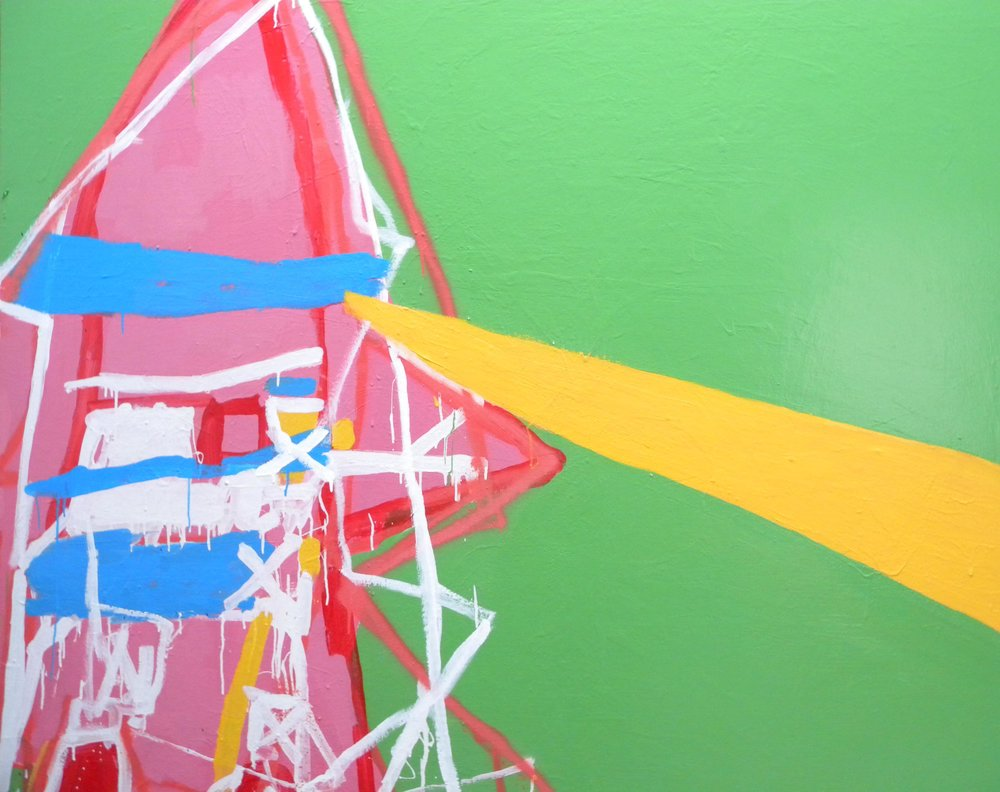 Michael Georgetti,  Rocket,  2010, acrylic and spray paint on canvas