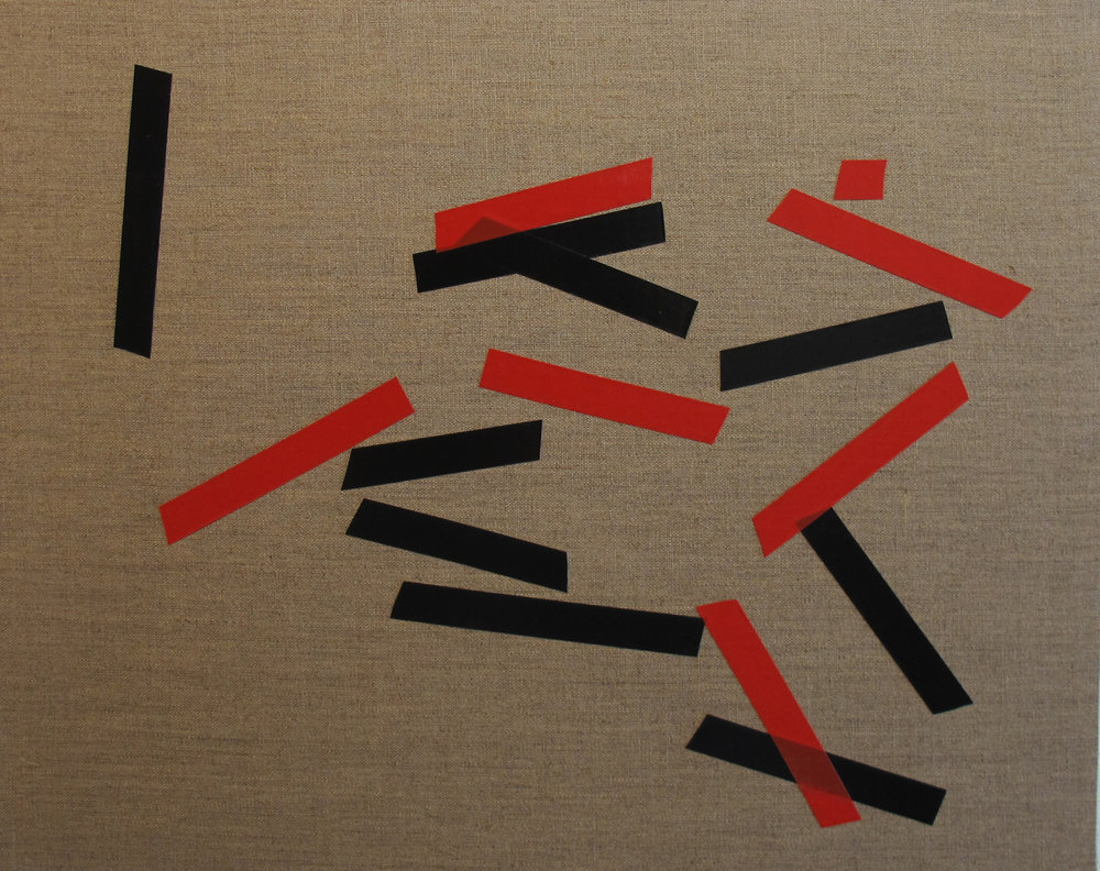 Billy Gruner,  Folk-Tape work No. 5 , 2012, electrical tape, linen artboard, 40 x 50cm