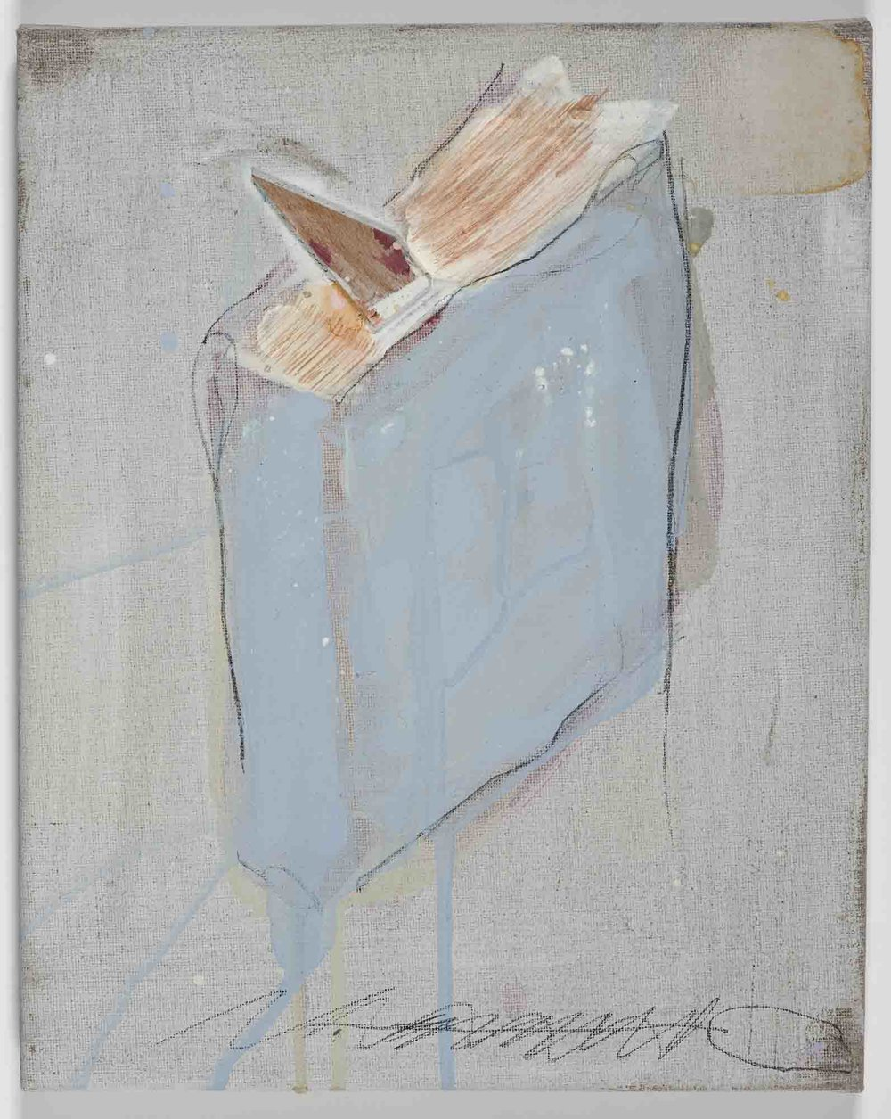 Matthew Bax,  Chapter 7 , 2011, acrylic, pencil, wax, binder, wood on linen, 30 x 30cm