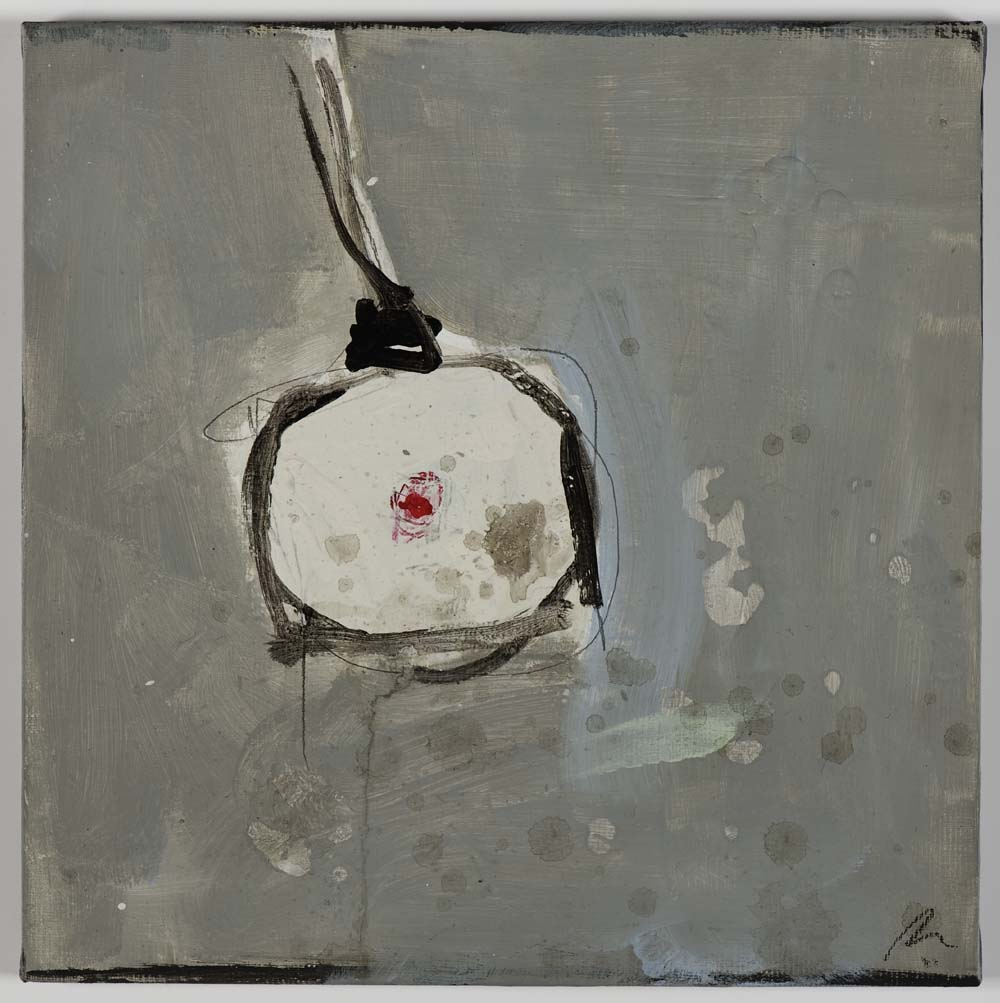 Matthew Bax,  Lights Out!,  2011, acrylic, binders, wax crayon on linen, 30 x 30cm