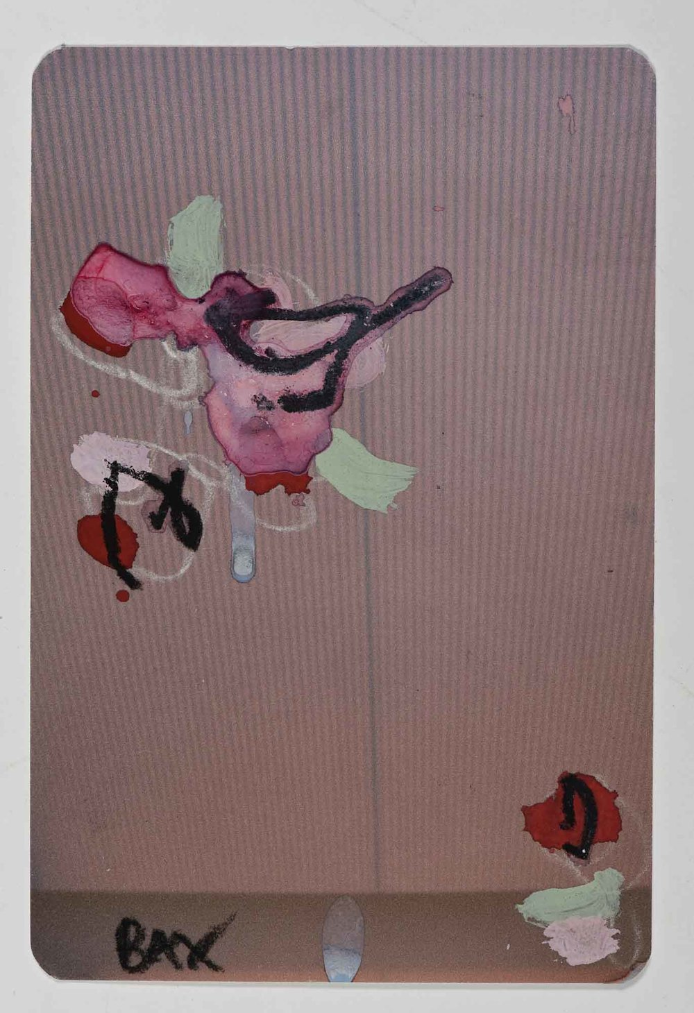 Matthew Bax,  Sample Afternoon Delight 2,  2012, acrylic, charcoal, pencil, wax crayon, expresso on paper, 15 x 10cm