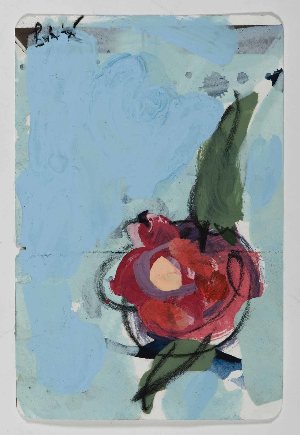 Matthew Bax,  Sample Calm & Collected , 2012, acrylic, charcoal, pencil, wax crayon on paper, 15 x 10cm