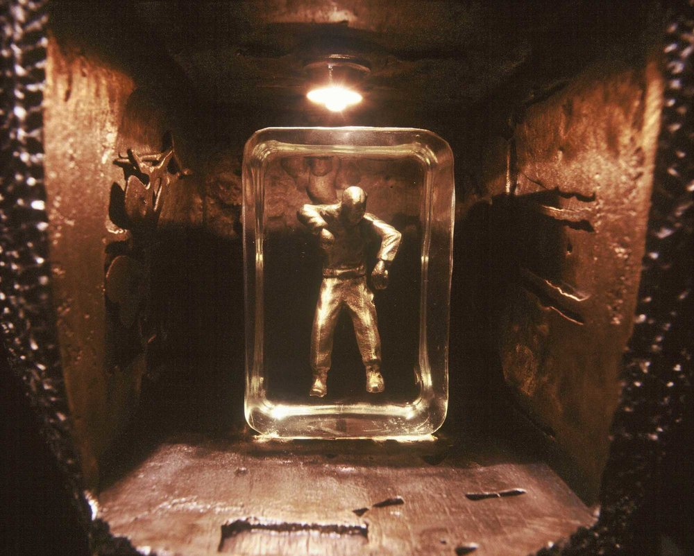 Ewen Coates,  floating man, (detail),  2005, bronze, 33 x 25 x 25cm