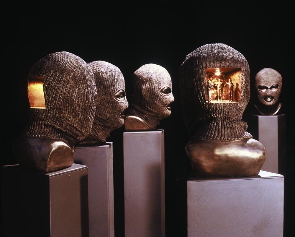 Ewen Coates,  overground,  2005, bronze, installation image