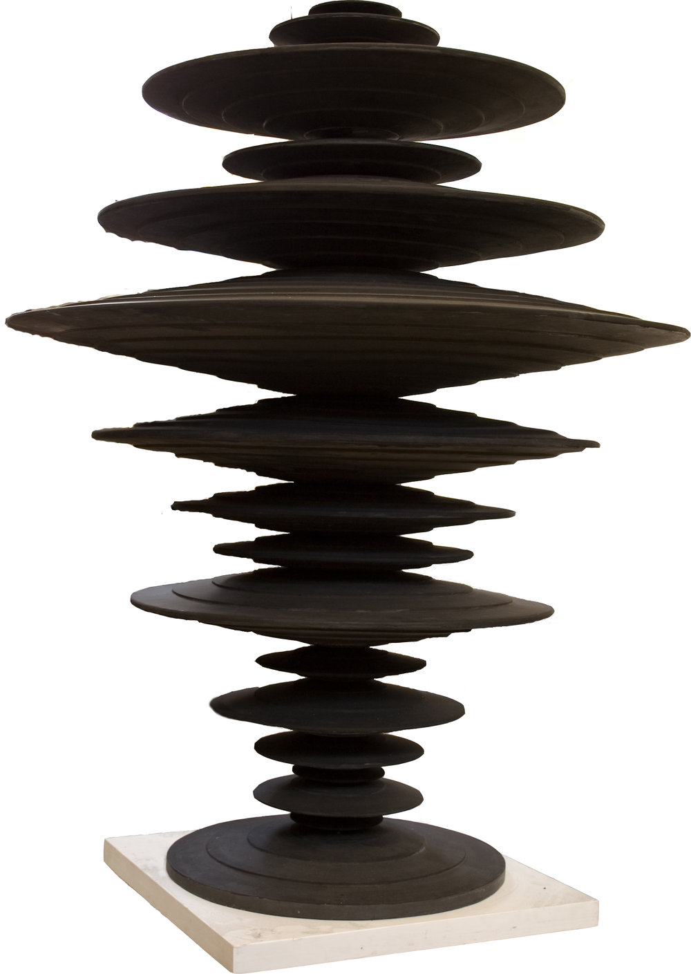 Ewen Coates,  satori time machine , 2012, fibreglass resin, 230 x 160 x 160cm