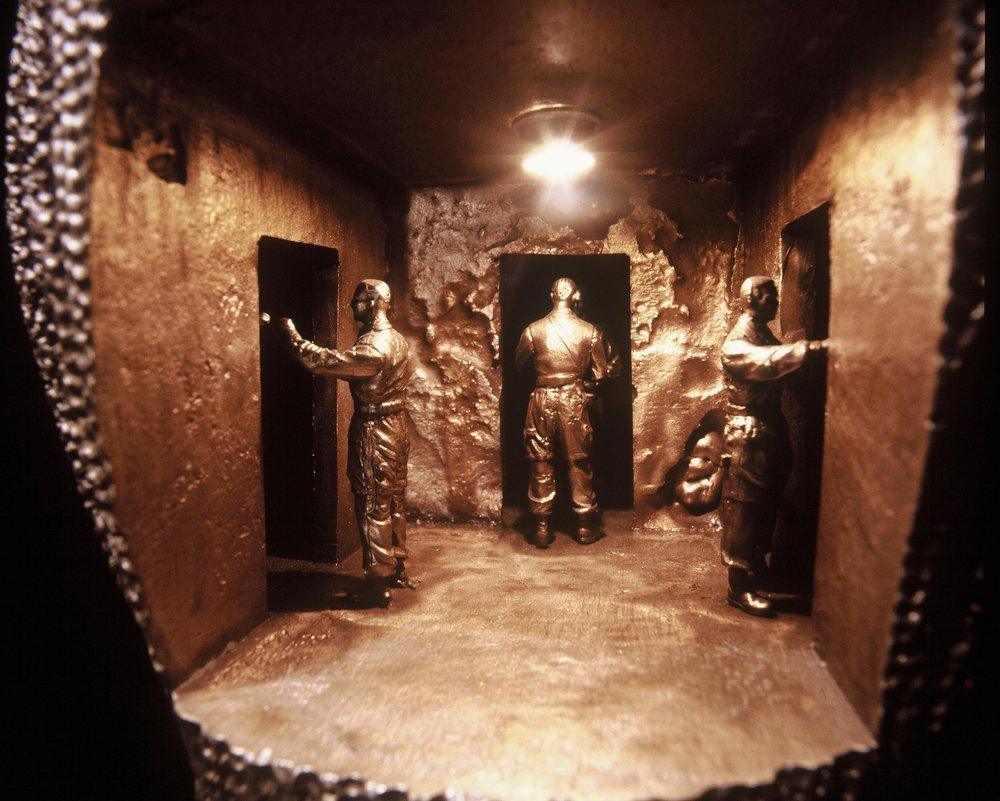 Ewen Coates,  three mirrors,  (detail), 2005, bronze, 33 x 25 x 25cm