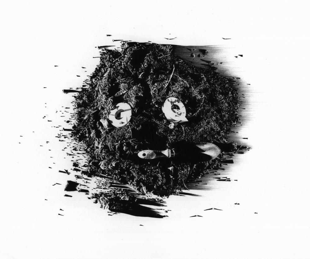 Matt Coyle,  GQ with Dirt,  2011, pen on paper, 33.5 x 41cm