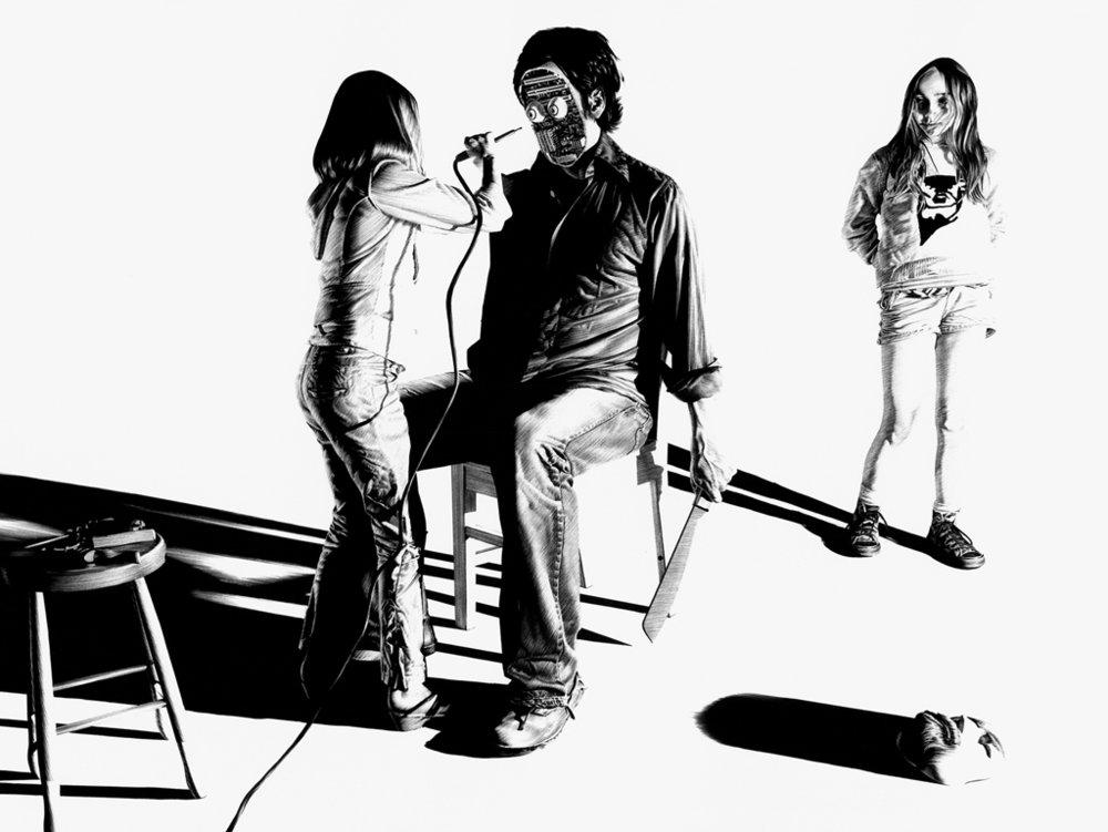 Matt Coyle,  In Your Dreams , 2011, pen on paper, 53 x 69cm