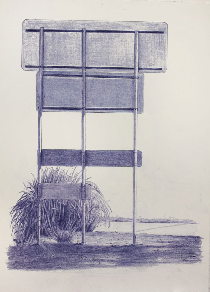 Vin Ryan,  Sign, Sunshine (3),  2012, pencil on paper, 38 x 28cm