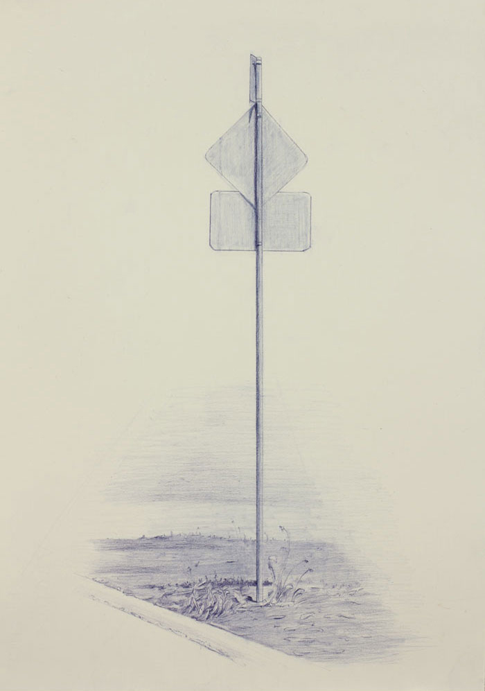 Vin Ryan,  Sign, Sunshine (5) , 2012, pencil on paper, 38 x 28cm