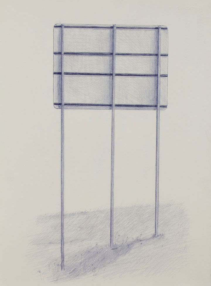 Vin Ryan,  Sign, Sunshine (4),  2012, pencil on paper, 38 x 28cm