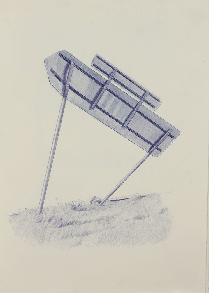 Vin Ryan,  Sign, Sunshine,  2012, pencil on paper, 38 x 28cm