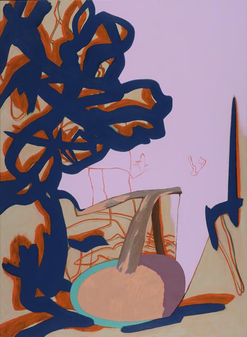David Palliser, Mauve Void, 2002-10, 153 x 112cm