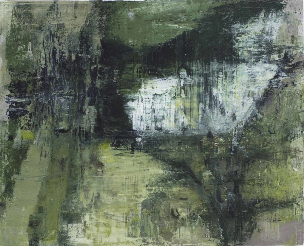 Johanna Logue, Garden,  acrylic on board, 30x40cm, 2016