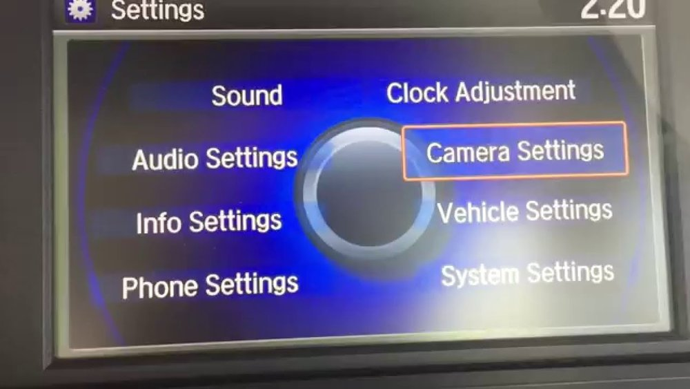 Honda Camera Settings