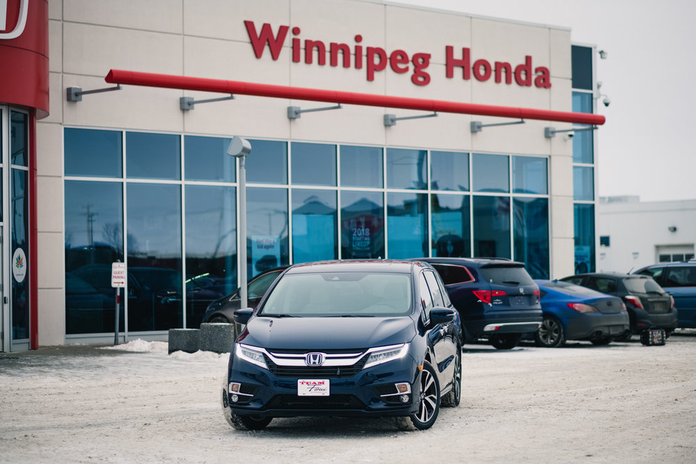 The 2018 Honda Odyssey courtesy of Winnipeg Honda in the Waverley Automall