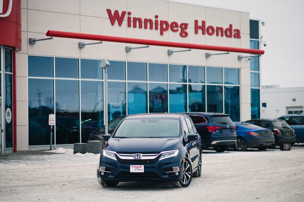 The 2018 Honda Odyssey courtesy of Winnipeg Honda in the Waverley Automall