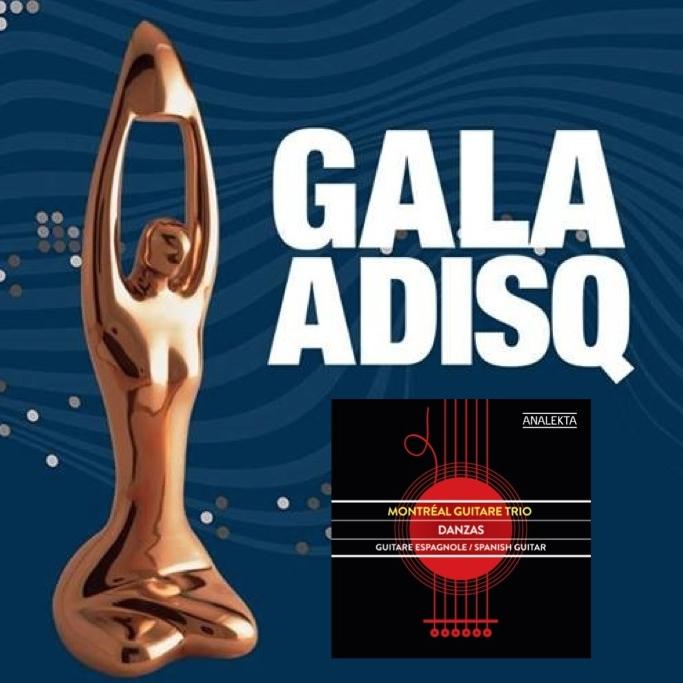 DANZAS est en nomination au Gala de l'ADISQ 2017 pour l'Album de l'année - Classique / Soliste et petit ensemble!Félicitations également aux autres candidats en lice:Charles-Richard Hamelin, Daniel Taylor,Philippe Sly et Marina Thibeault. Le gagnant sera dévoilé lors du 1er Gala de l'ADISQ qui se déroulera le 26 octobre prochain au MTelus.  ////  DANZAS is nominated at the ADISQ GALAS 2017 for the Album of the Year - Classical / Soloist and small ensemble! Congratulations to all the other nominated artists: Charles-Richard Hamelin, Daniel Taylor, Philippe Sly &Marina Thibeault. The winner will be announced at the 1st ADISQ GALA which will take place on October 26th at MTelus Theater.