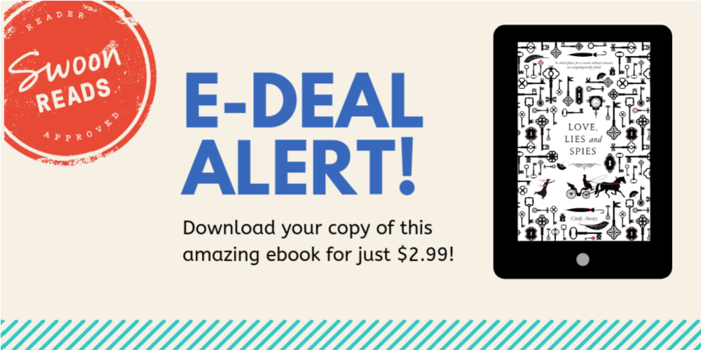 Exciting news!! E-book of LOVE, LIES AND SPIES will be on sale through April 2019..