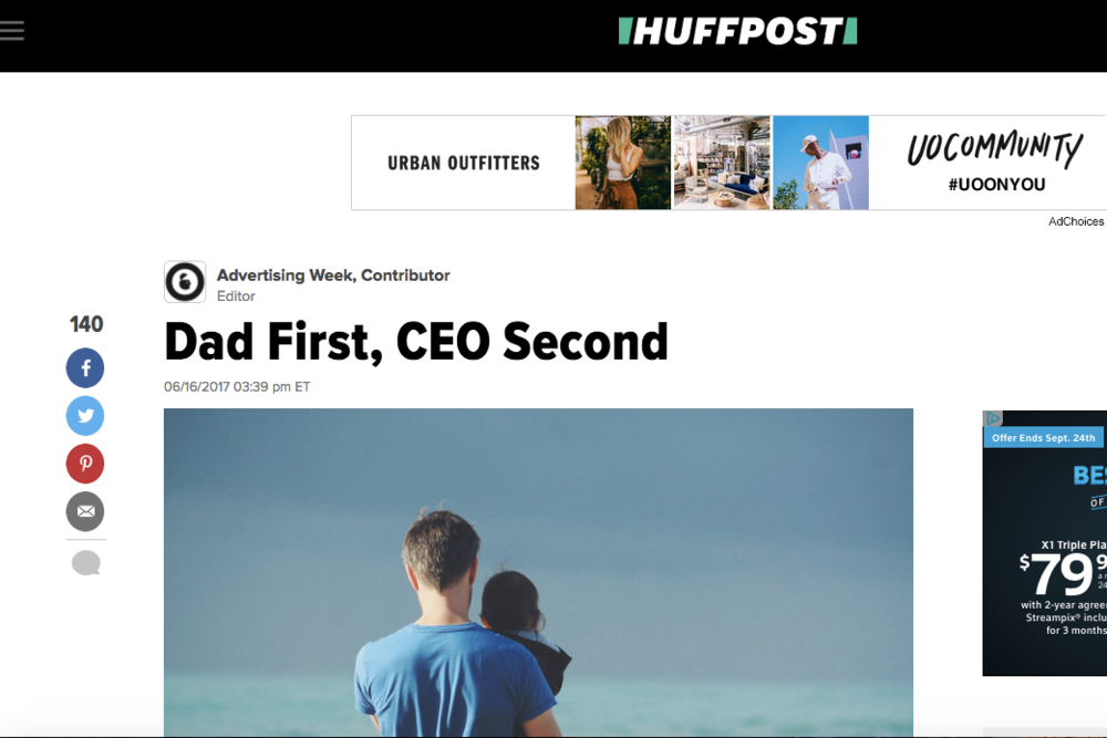 HuffPo: David Angelo's Father's Day Byline