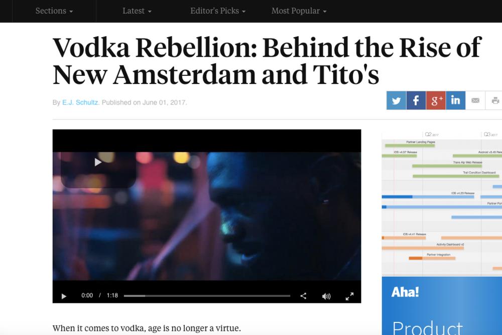 Ad Age: New Amsterdam Vodka's Rise