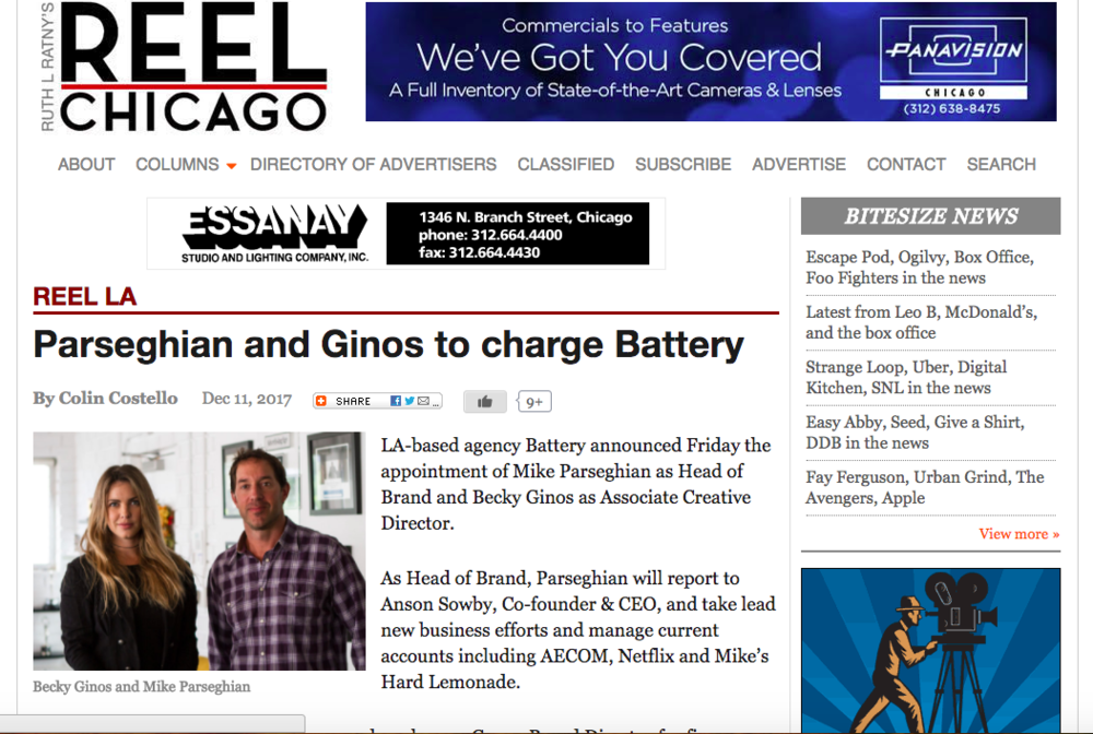 REEL LA:Parseghian and Ginos to charge Battery